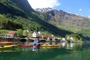 Aurlandsfjord and Nærøyfjord sea kayaking