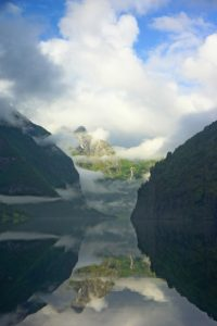 Naeroyfjord Norway Rainy Weather