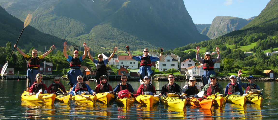 Norwegian Fjords Sea Kayaking Nordic Ventures Norway Hiking Tours